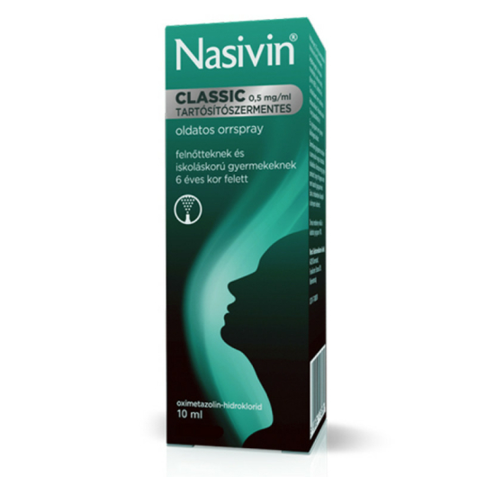 Nasivin Classic 0,5 mg/ml Orrspray/Tart.Ment. 1x10ml